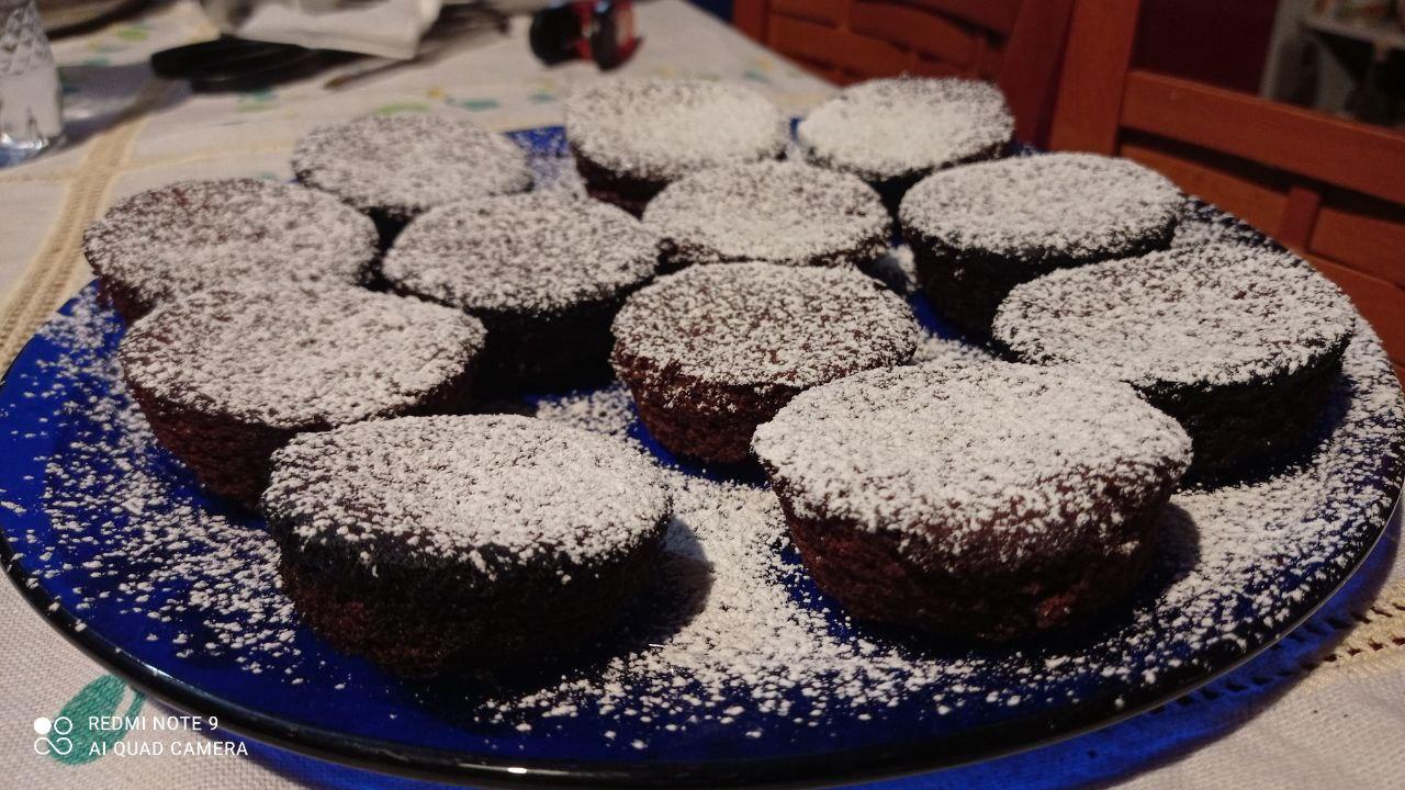 12 muffin mandorle e cioccolato